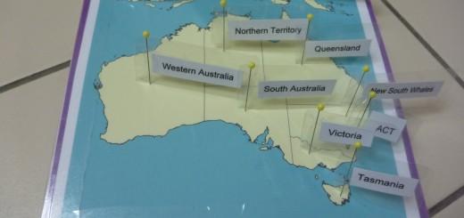 Australia pin map