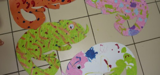 chameleon-craft-Eric-Carle-Style