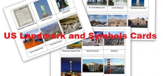 US Landmarks and Symbols Cards