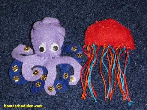 ocean-felt-animals-octopus-jellyfish