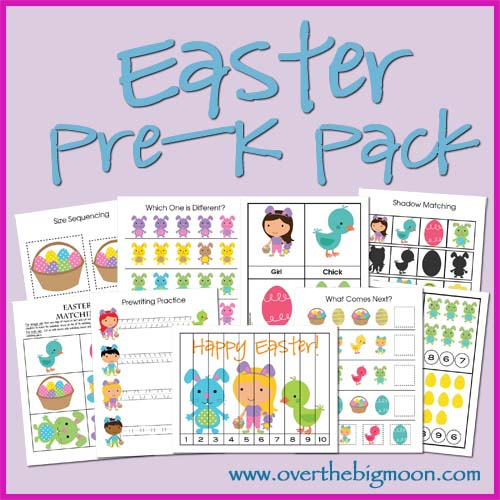Free Easter and Spring PreK Packs and Printables - Homeschool Den