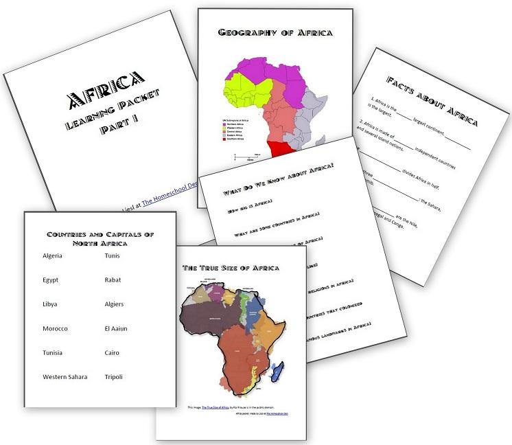 Worksheets on Africa Homeschool Den – Africa Worksheets