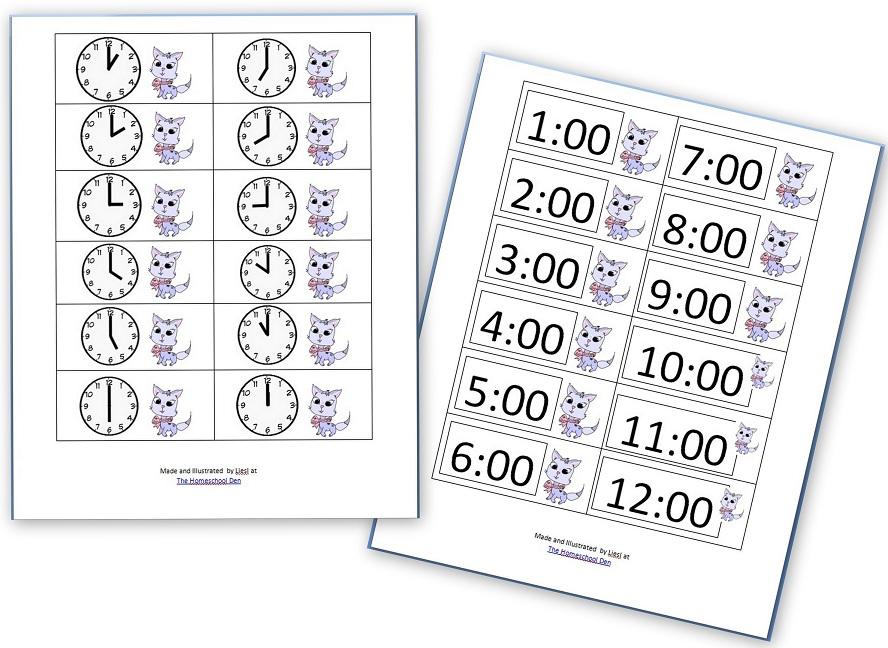 Time Worksheets telling time worksheets kindergarten : Telling Time Practice Sheets - Homeschool Den