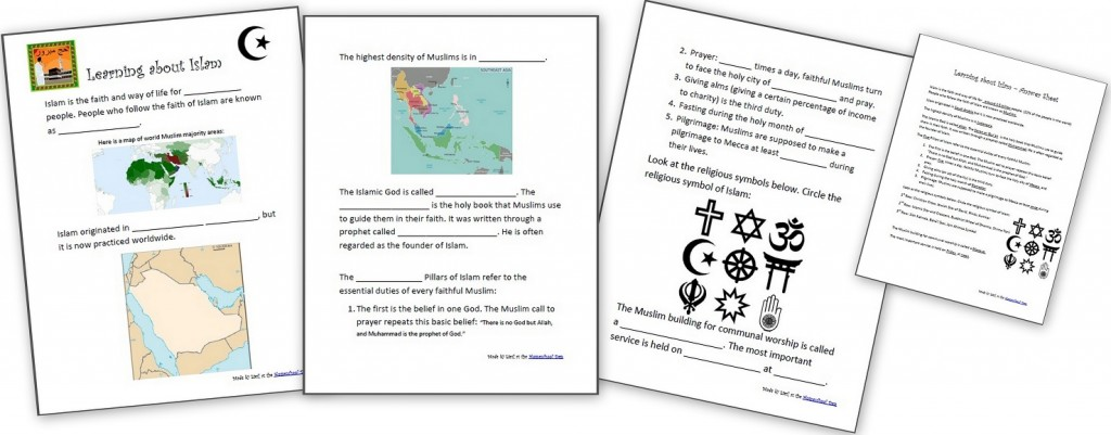 Number Names Worksheets kids learning worksheet : Learning About Islam – Free Worksheets and Resources for Kids ...
