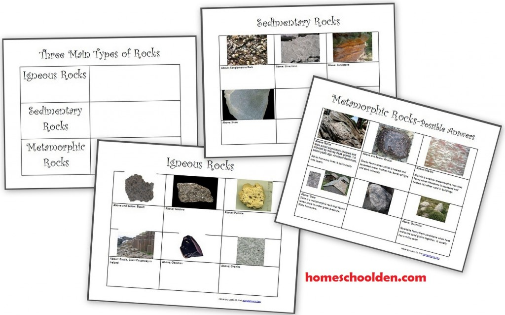 Printable Worksheets igneous rocks worksheets : The Three Types of Rocks– Our Activities and a Free Worksheet ...