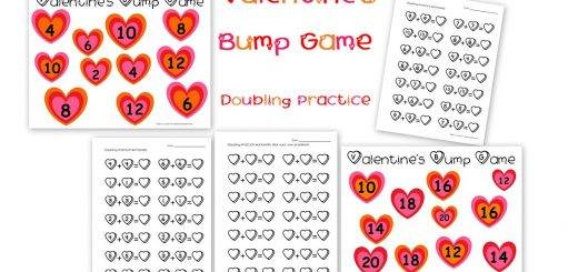 Valentine's Bump Game Doubling Practice
