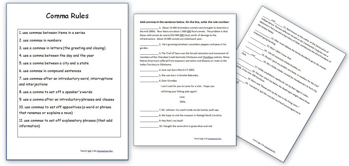 Printable Worksheets punctuation rules worksheets : Free Grammar Worksheets: Capitalization Rules Practice Sheets ...