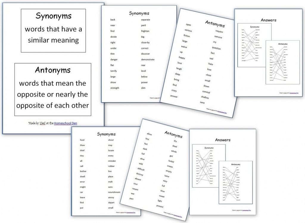 Synonyms-Antonyms