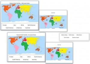 Free world map printables world at night images outline maps etc freemontessoriworldgeographymap gumiabroncs Choice Image