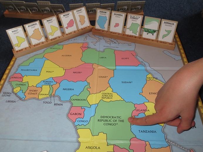 africa map memory game