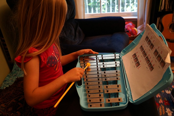 playing the glockenspiel