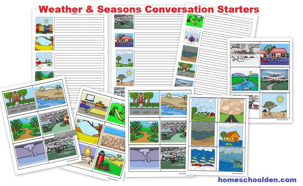 German Weather & Seasons Conversation Starters