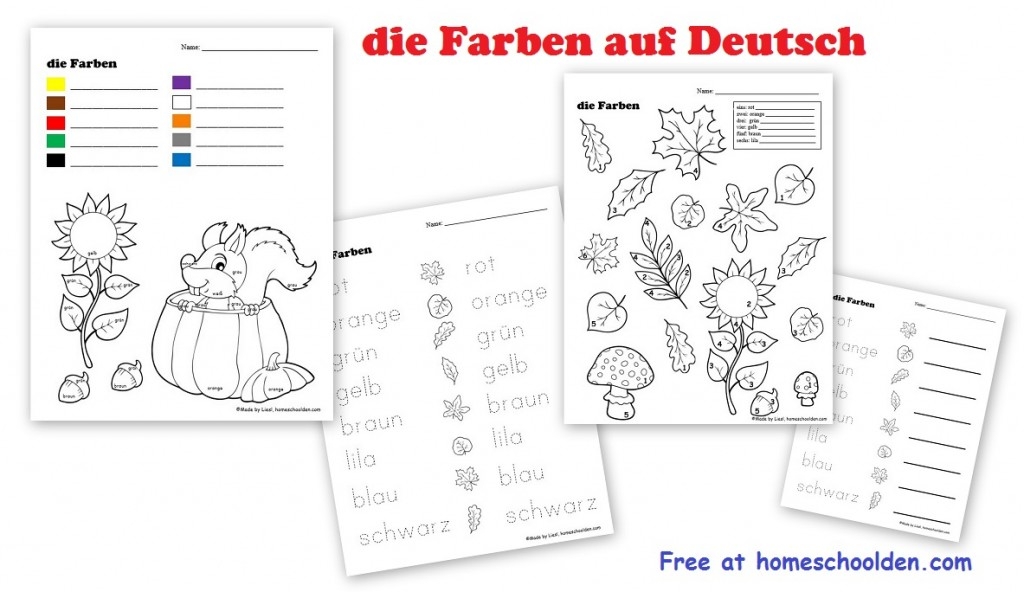 Printable Worksheets worksheets free : Free German Worksheets for Kids - Homeschool Den