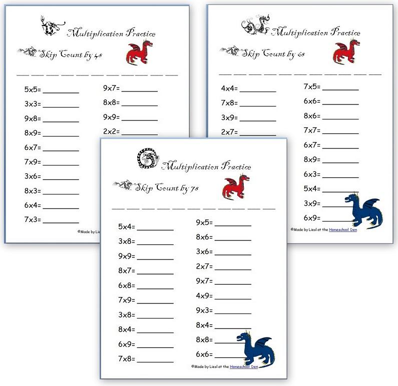 Printable Worksheets multiplaction worksheets : free multiplication worksheets - Homeschool Den