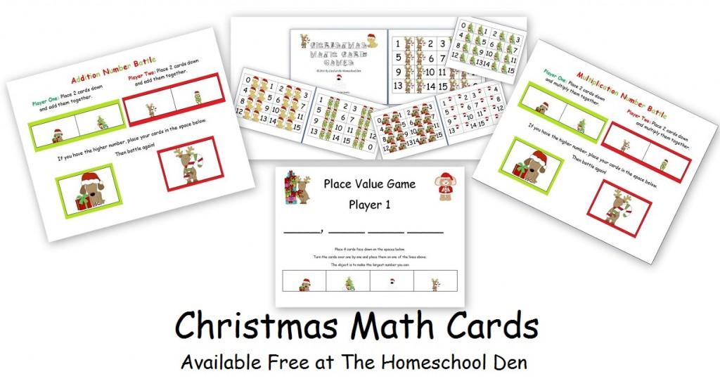 ChristmasMathCardGames-HomeschoolDen