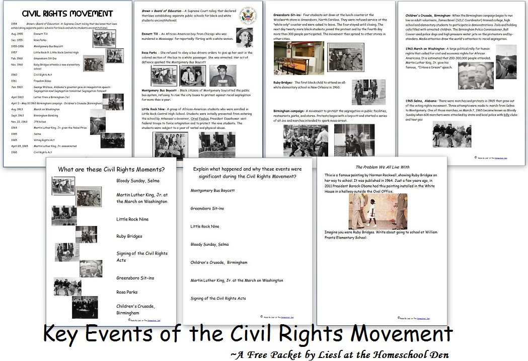 Civil Rights Movement Worksheets Free