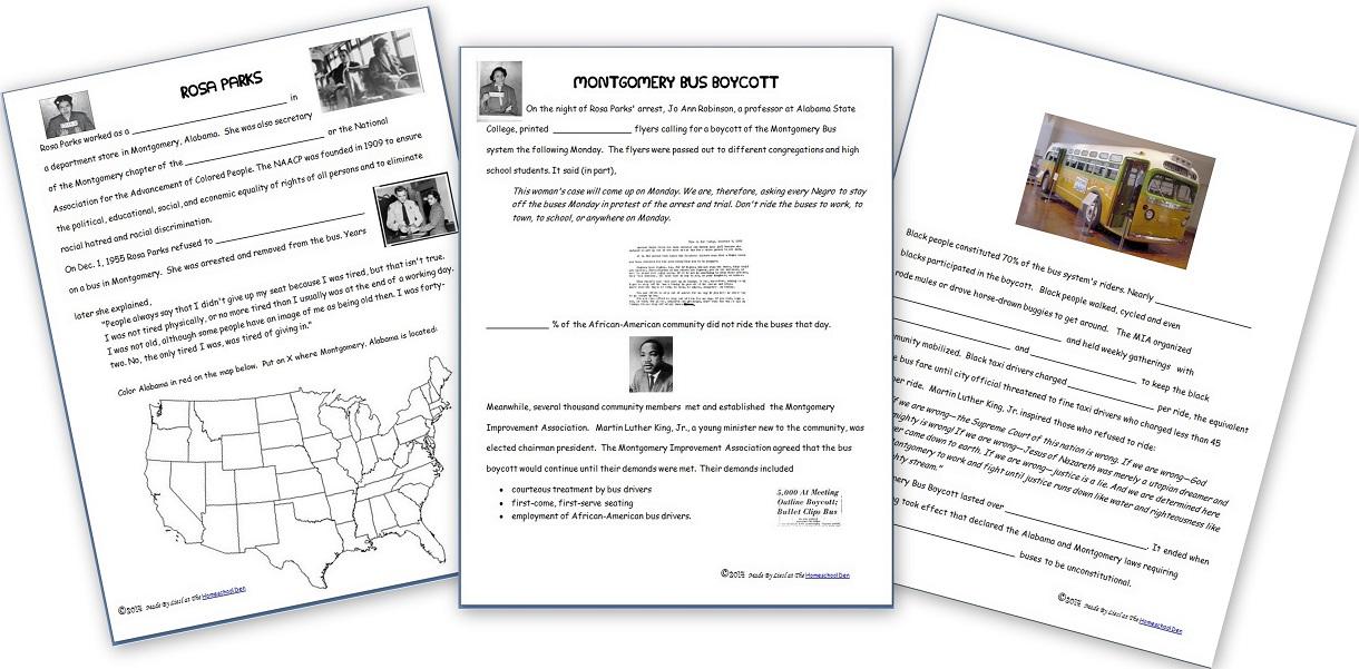 History Civil Rights Movement Homeschool Den – Civil Rights Movement Worksheets