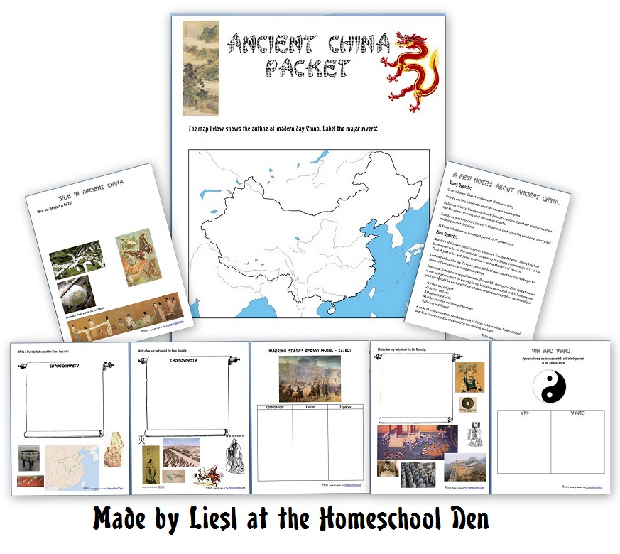 Ancient China Packet (Free Notebook Pages) - Homeschool Den