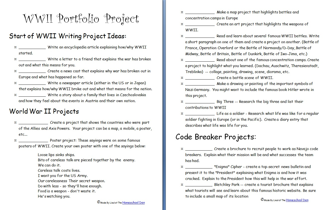 World War II Portfolio Project