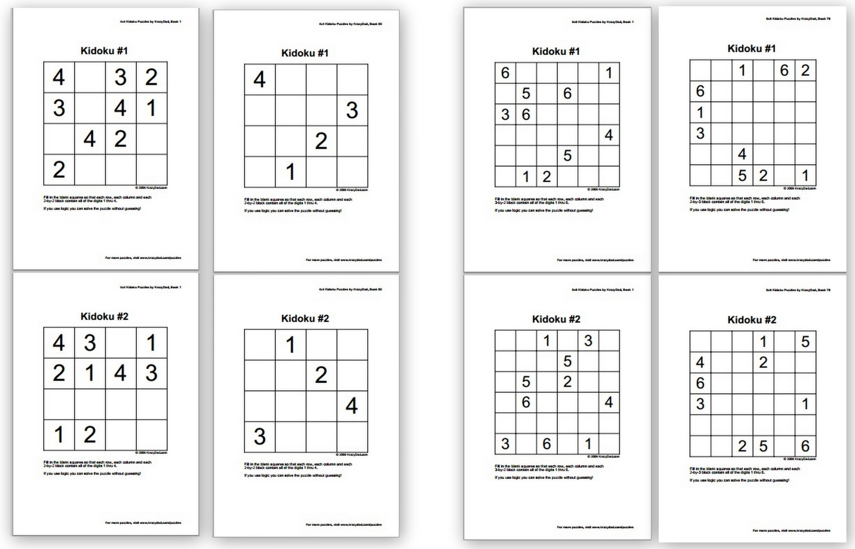photo relating to Kids Sudoku Printable named Free of charge Sudoku Puzzles for Little ones - Homeschool DenHomeschool Den