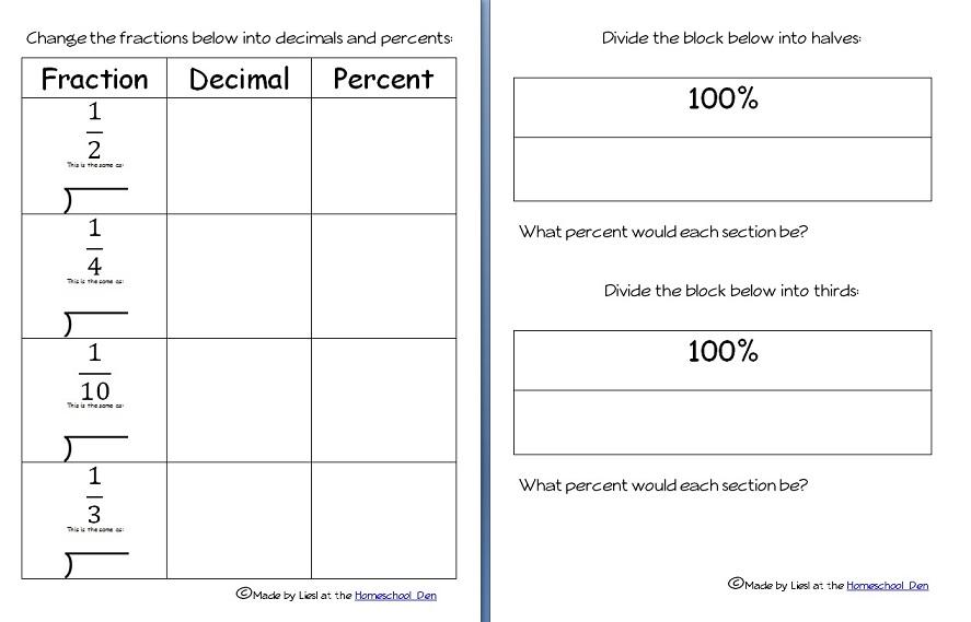 percent-fraction-decimal-pages