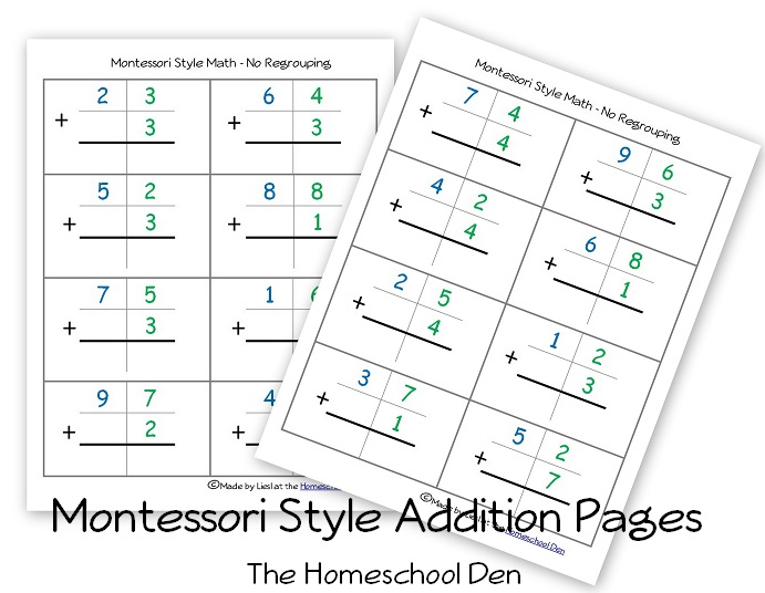 Montessori Worksheet Free Printable