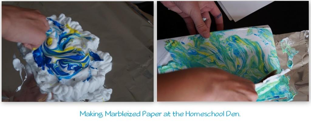 Summer Activities Marbleized-Stationery