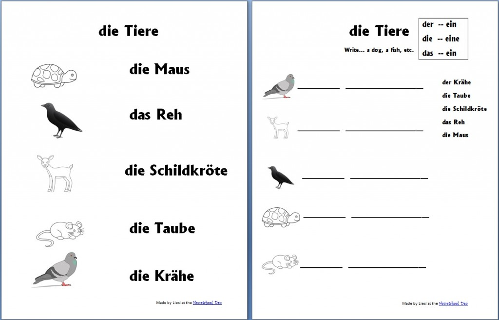 Printable Worksheets printable worksheets free : Free German Worksheets for Kids - Homeschool Den