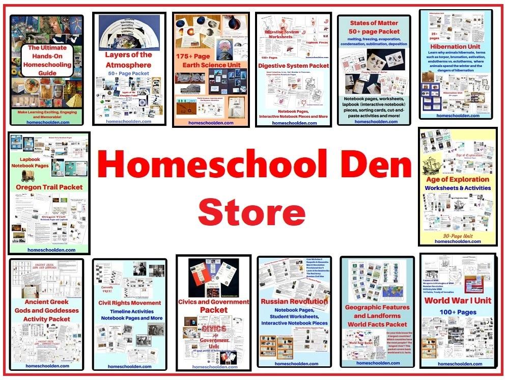 Homeschool Den STORE