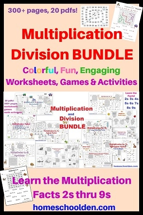 Multiplication Bundle worksheets-games-activities-skip-counting-mazes-and-more