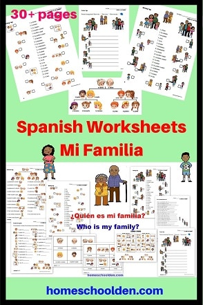 Spanish BUNDLE Set 1 - Mi Familia - My family