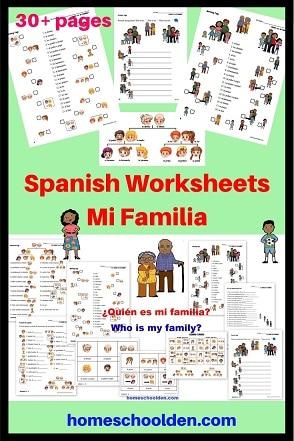 Spanish BUNDLE Set 1 - Mi Familia - My family