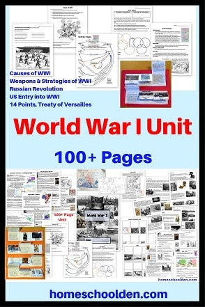 World War I Unit with Worksheets Notebook Pages and More
