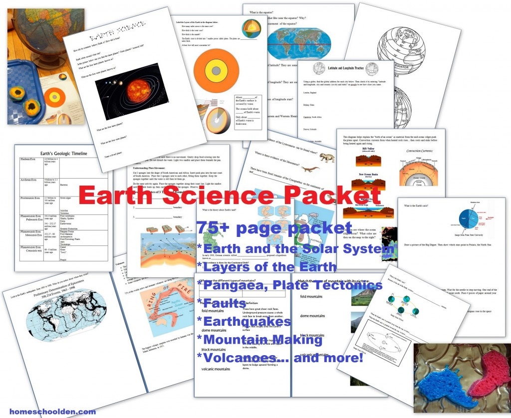 Science Units Homeschool Den Learn About Electricity For Kids Earth Packet 75 Pages