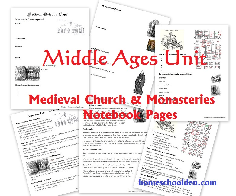 Printable Worksheets feudalism worksheets : Middle Ages Unit: The Medieval Church and Monasteries Worksheets ...