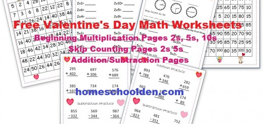 Number Names Worksheets valentines math worksheet : Holiday: Valentine's Day - Homeschool Den