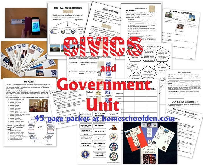 U.S. Civics and Government Unit (3 Branches of Government and More ...
