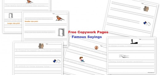 Free Copywork Pages