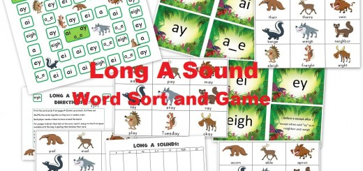 Long A Sound - Activities and Word Sort