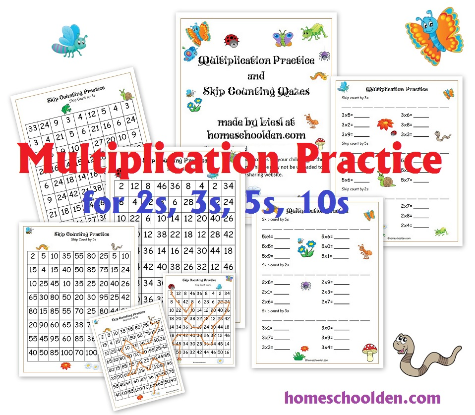 skip counting and multiplication practice 2s 3s 5s and 10s homeschool den. Black Bedroom Furniture Sets. Home Design Ideas