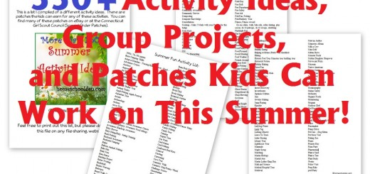Summer Activity Ideas - Patches Projects