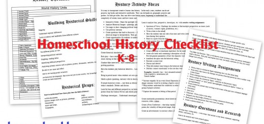 Homeschool History Checklist