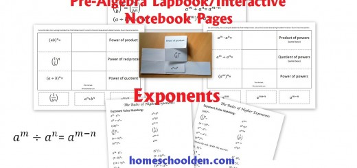 Free Exponents Worksheets interactive notebook pages