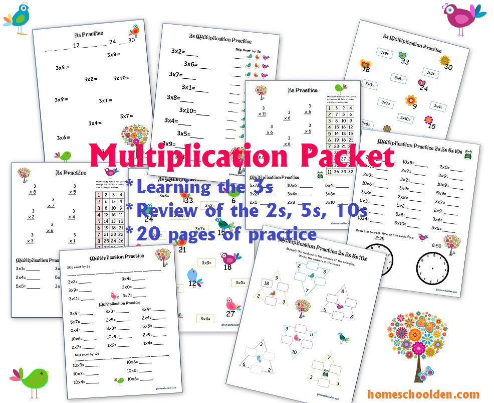 Learning the Multiplication Tables (2s through 9s) - Homeschool Den