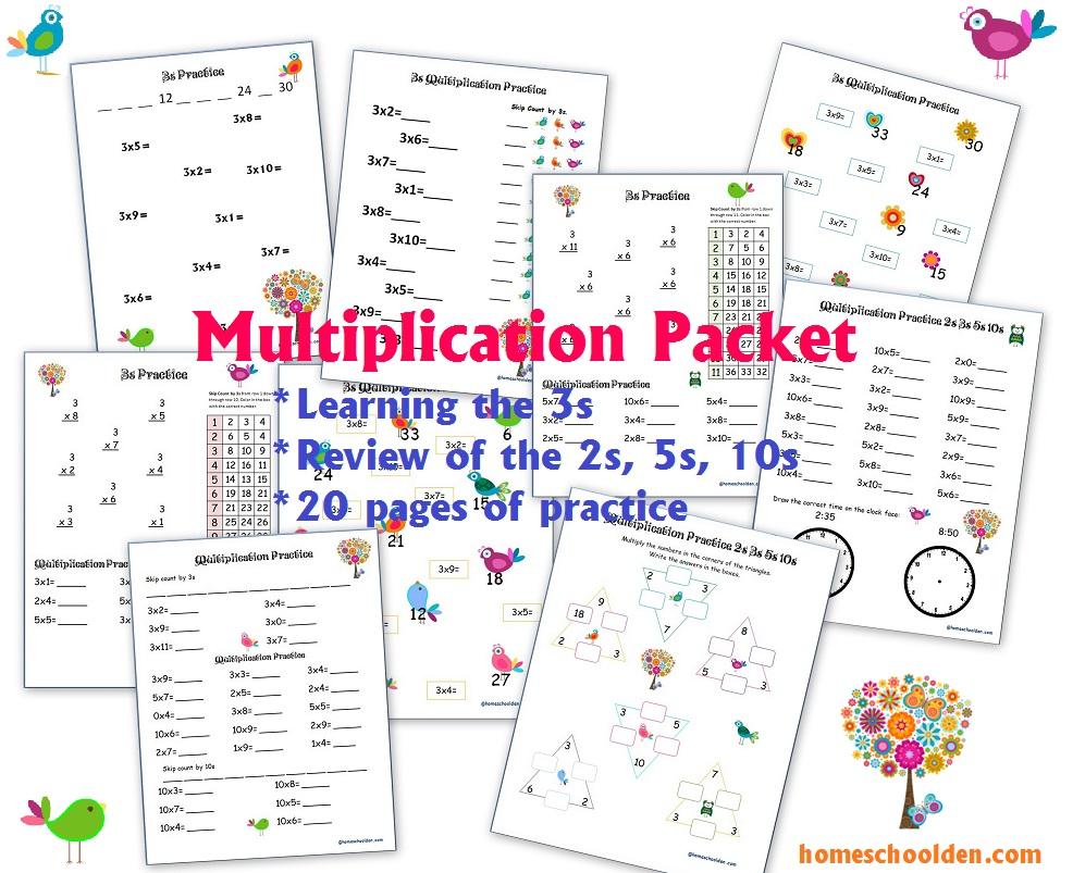 Workbooks learning multiplication facts worksheets : Learning the Multiplication Tables (2s through 9s) - Homeschool Den