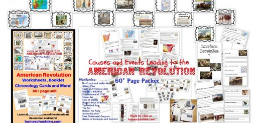American Revolution Unit - Worksheets and Activities