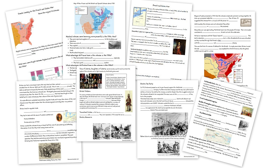 Causes of and Events Leading to the American Revolution (30-Page ...