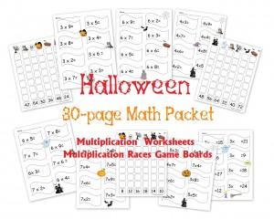 Halloween-Multiplication-Math-Worksheet-Packet