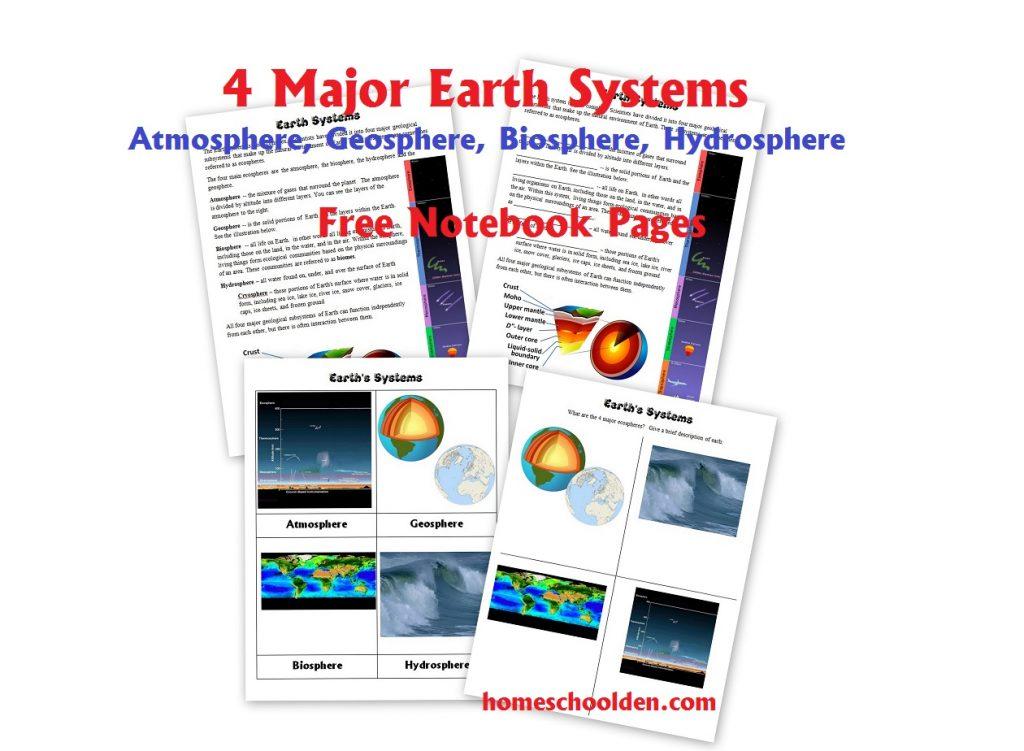earth 39 s 4 major systems free atmosphere geosphere hydrosphere biosphere homeschool den. Black Bedroom Furniture Sets. Home Design Ideas