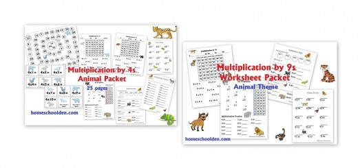 multiplication by 4s multiplication by 9s